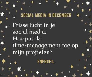 frisse lucht in je social media